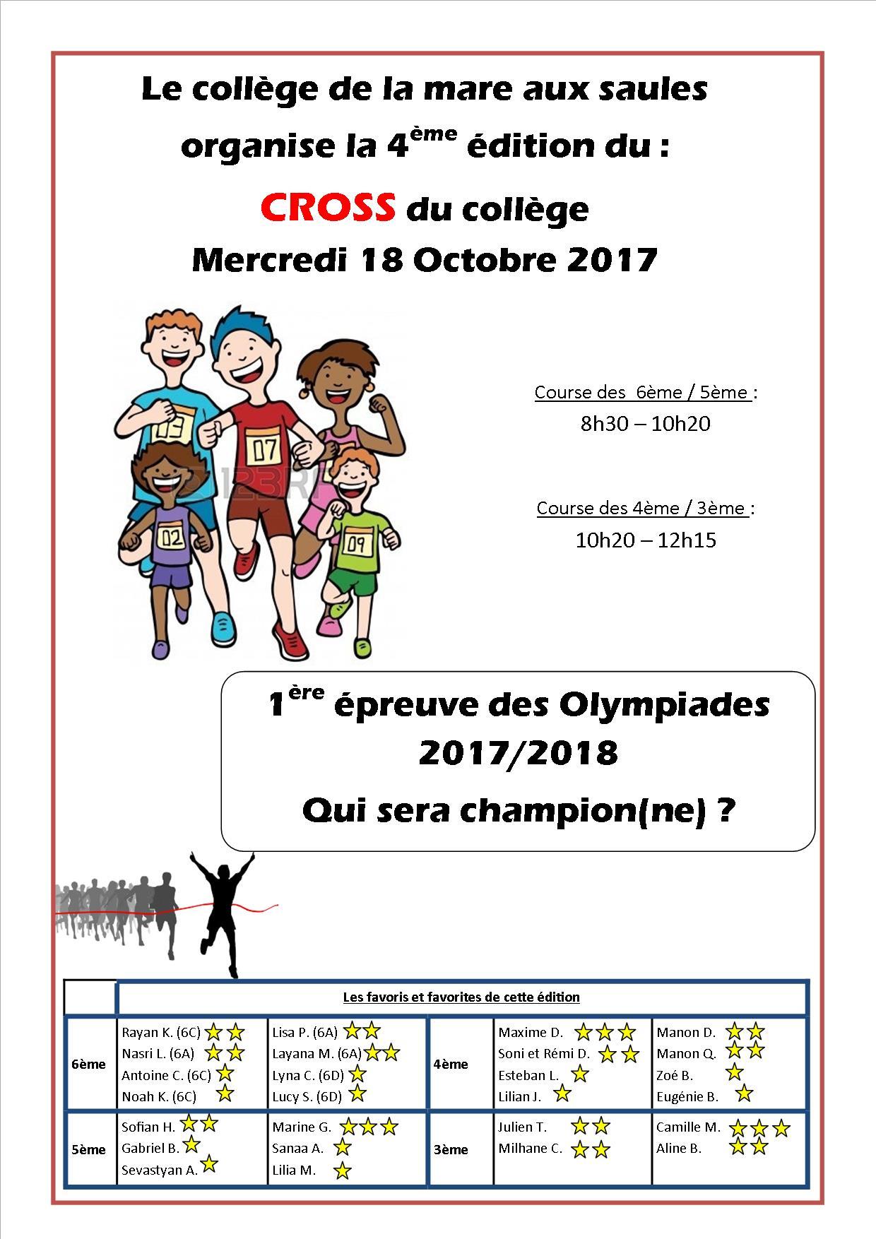 affiche Cross 2017 2018